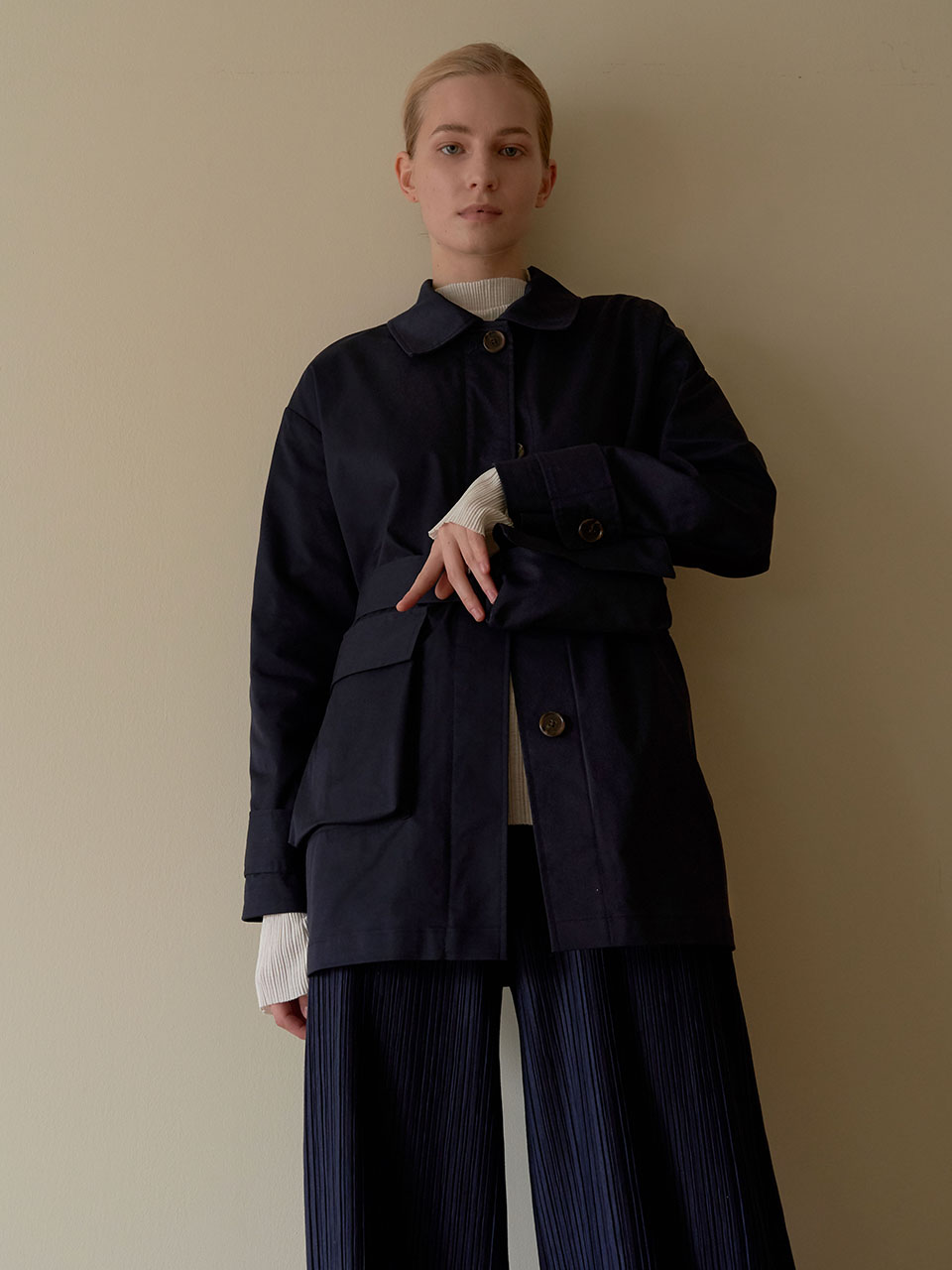 [REFURB] Pocketable trench coat - Navy