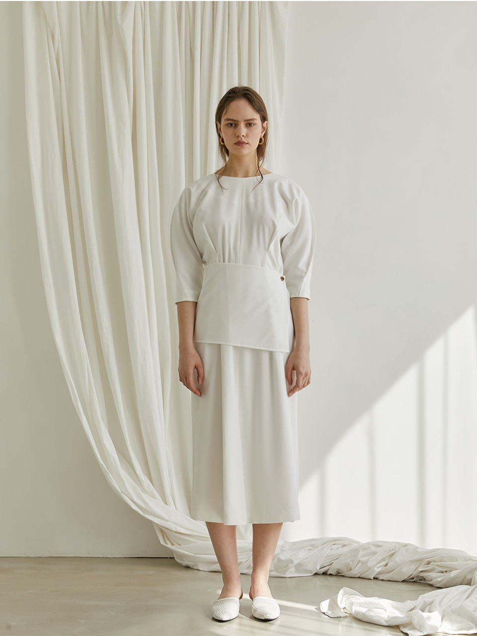 [REFURB] Reversible wrap dress - White