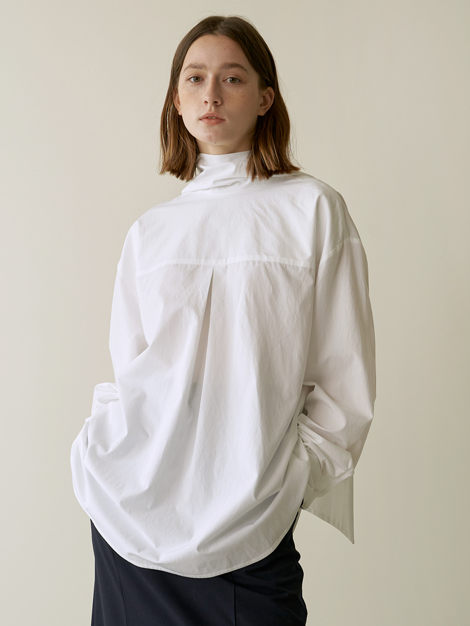 Reversible scarf blouse - White