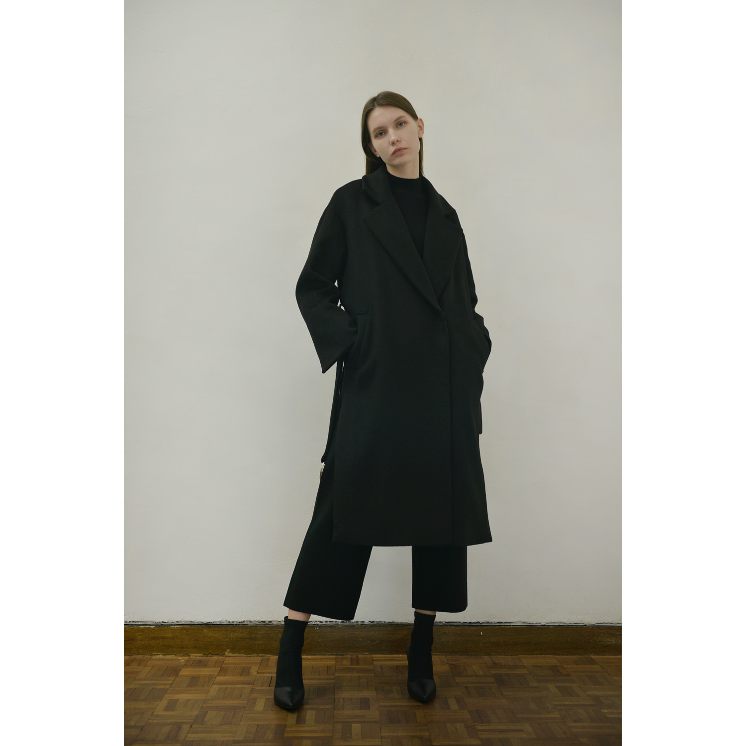 Belt Double Coat -Black