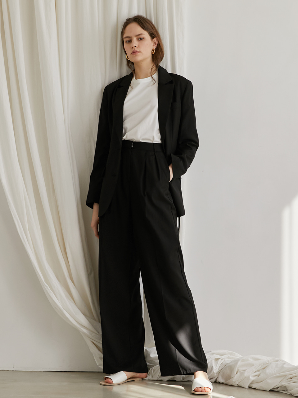 Classic wide pants - Black