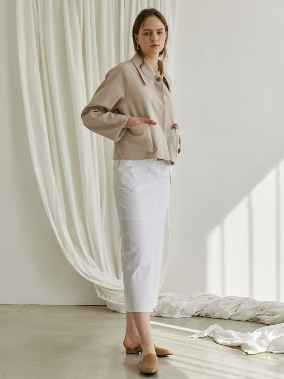 Short pocket jacket - Beige