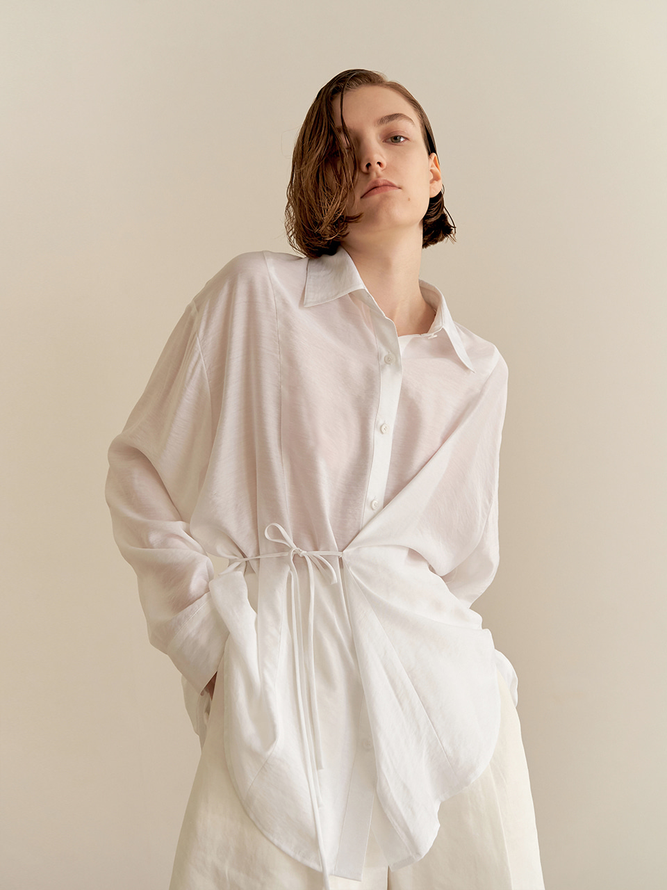 Resort string shirts-White