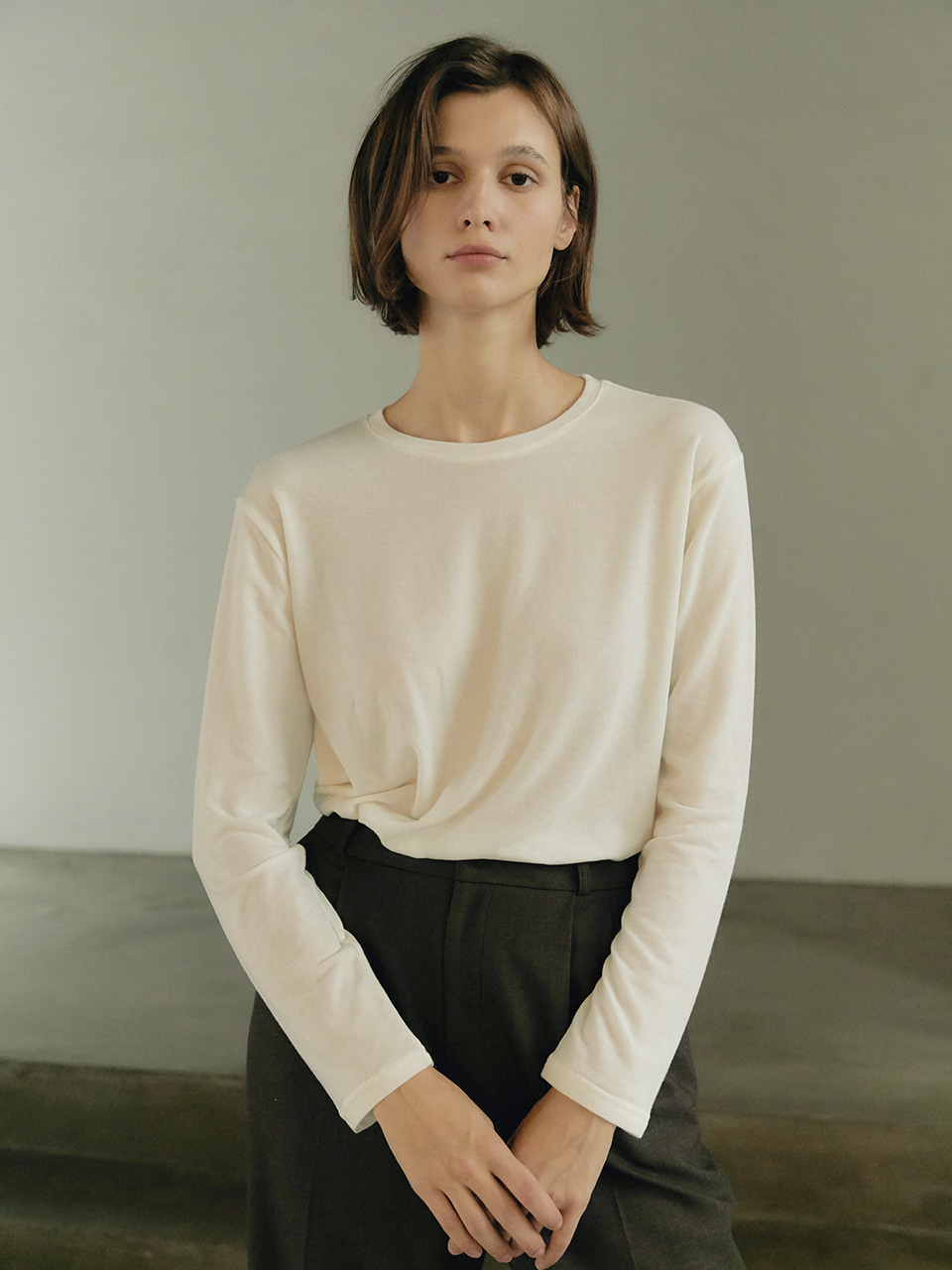 Tencel turtleneck - Black
