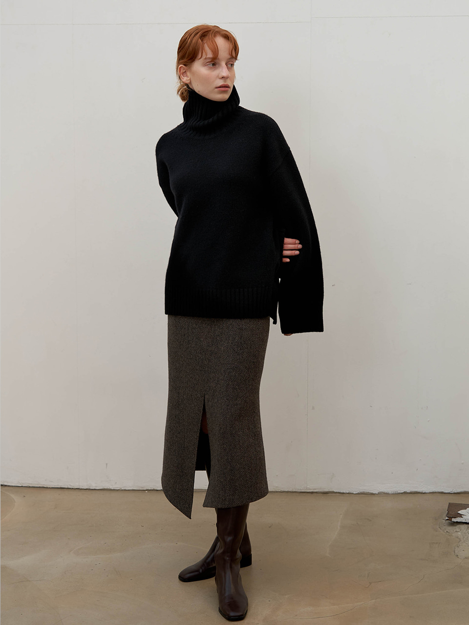 Cashmere turtleneck - Black