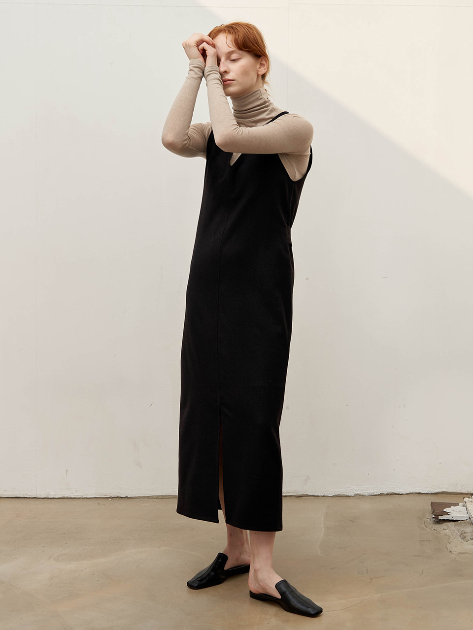 Reversible vest dress - Black