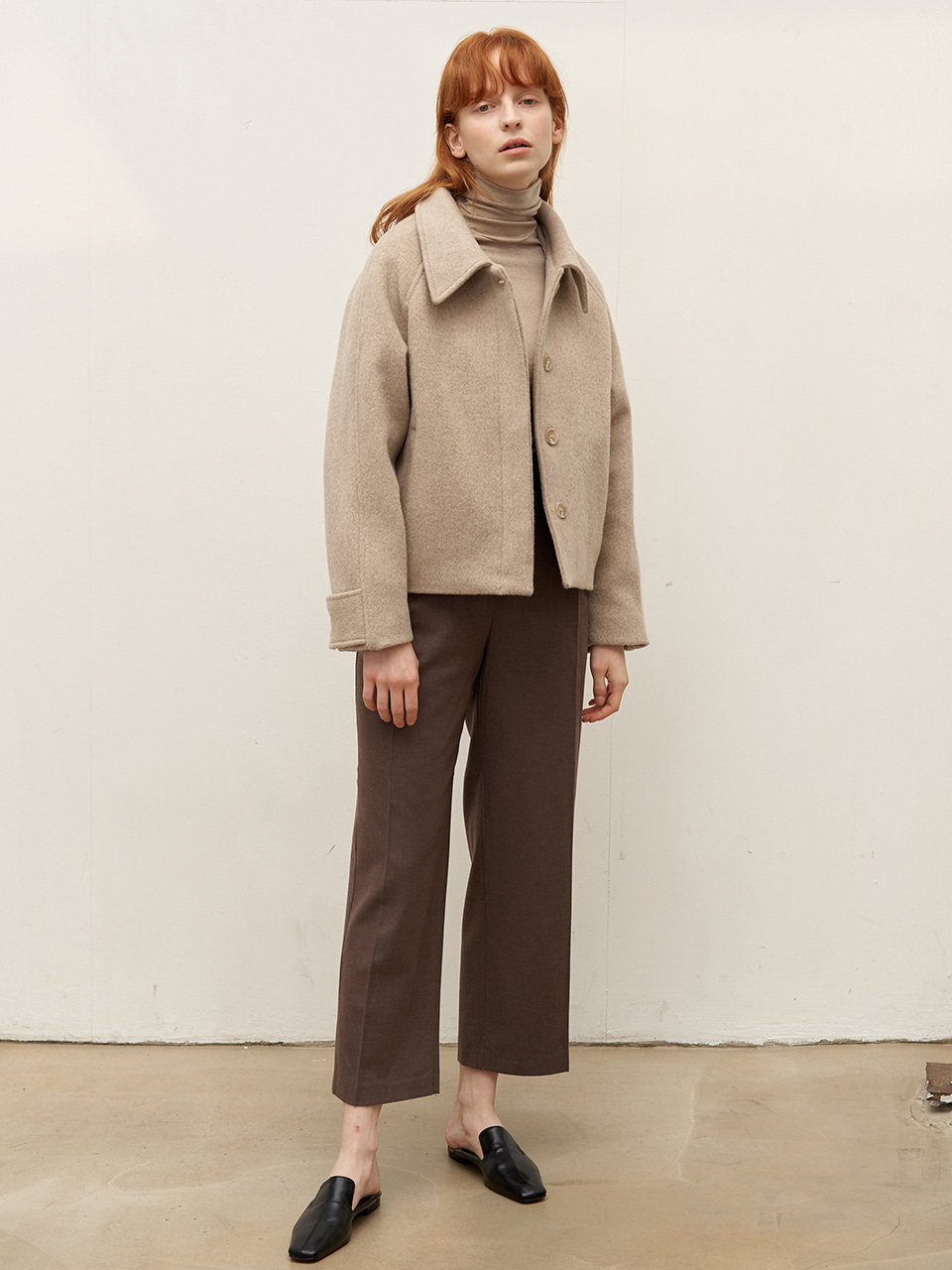 Short raglan coat - Oatmeal