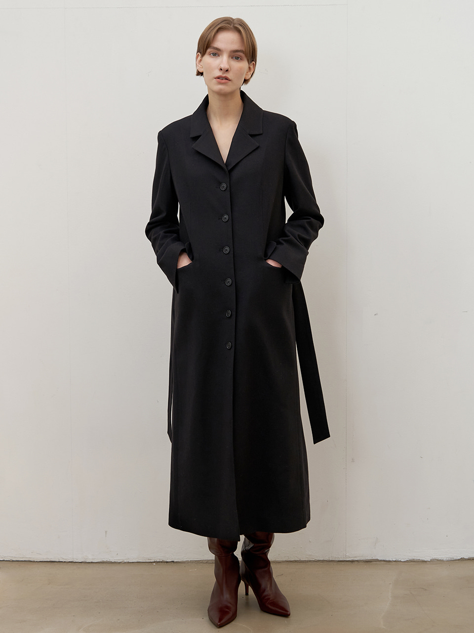 Tailored wool dress - Black