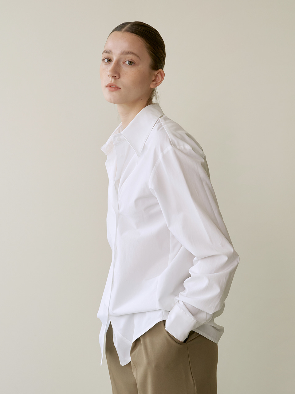 Button wrap shirts - White