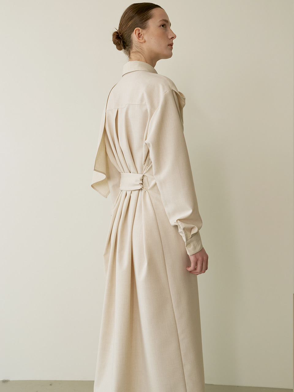 Panel scarf dress - Beige
