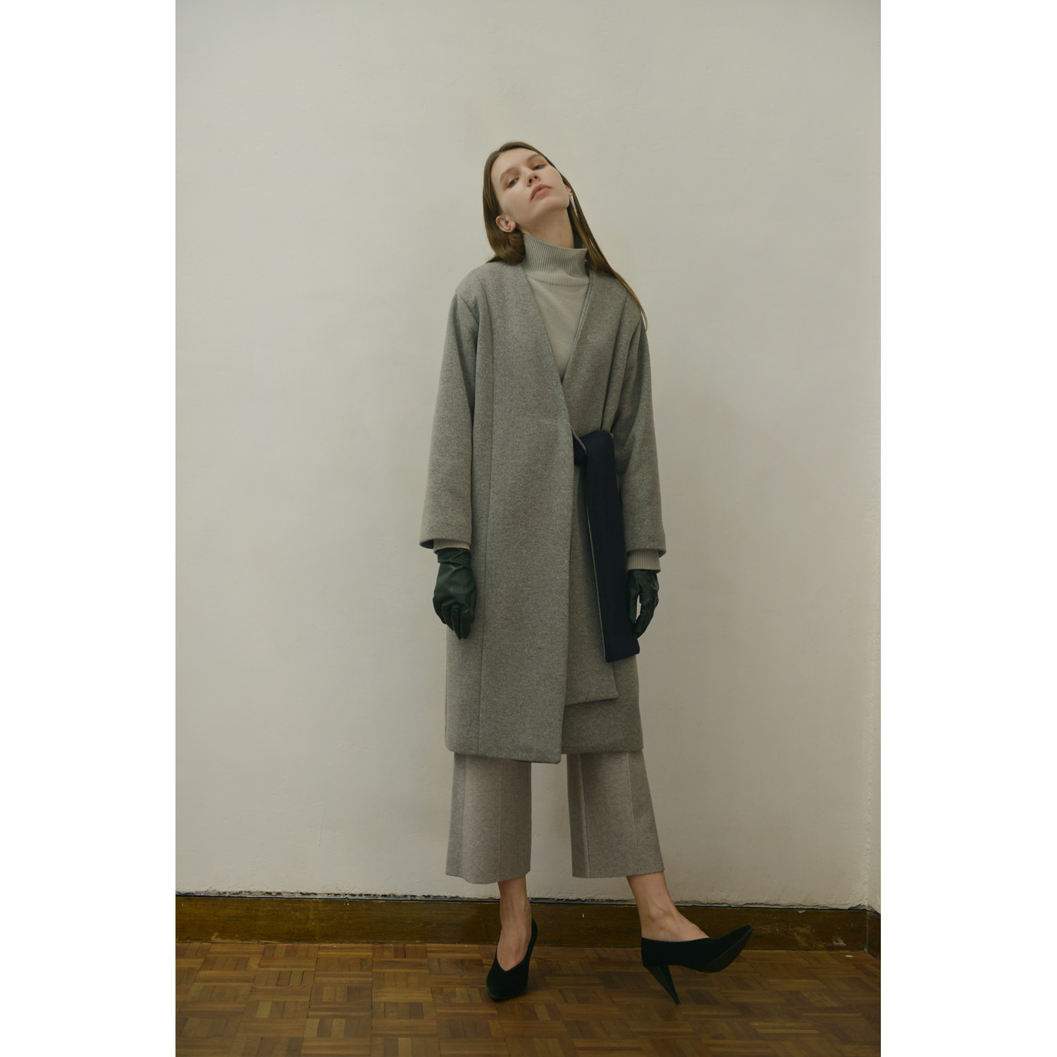 Knit Coat - Gray