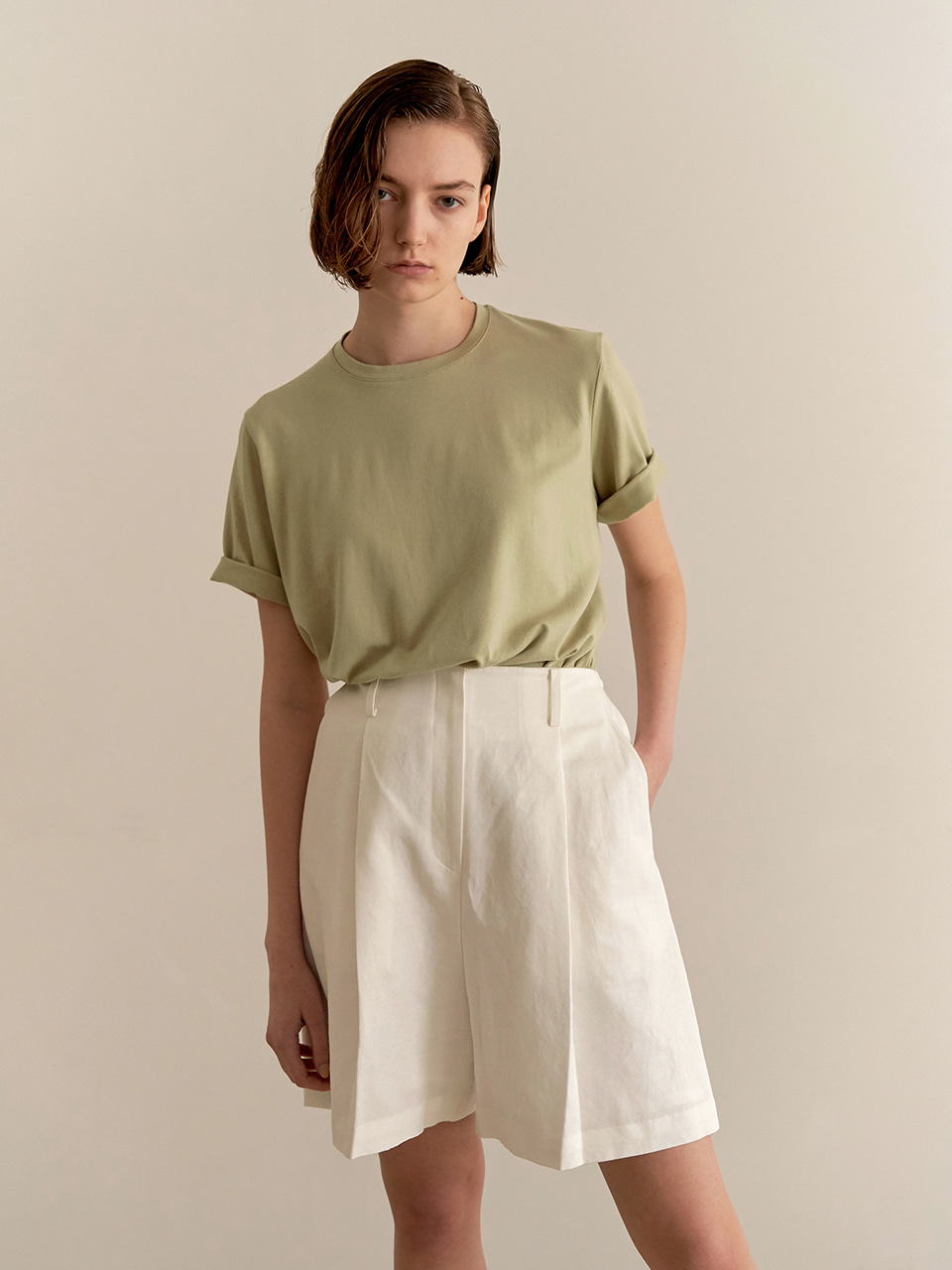 [최실장PICK][7/2순차배송] Daily slit T-shirt - Mint