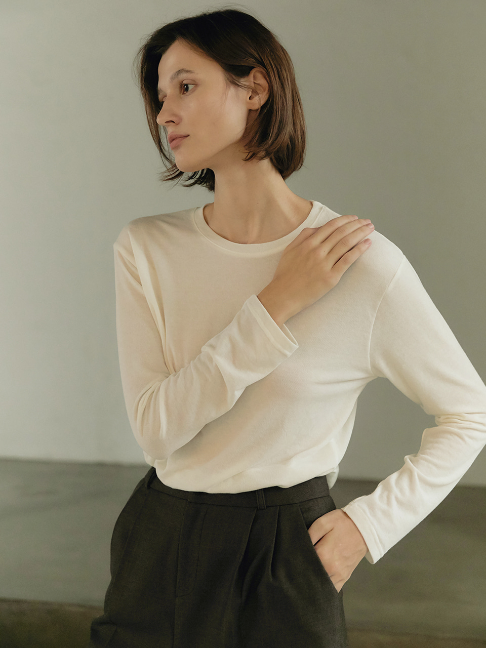 Daily Wool T-shirt - Ivory