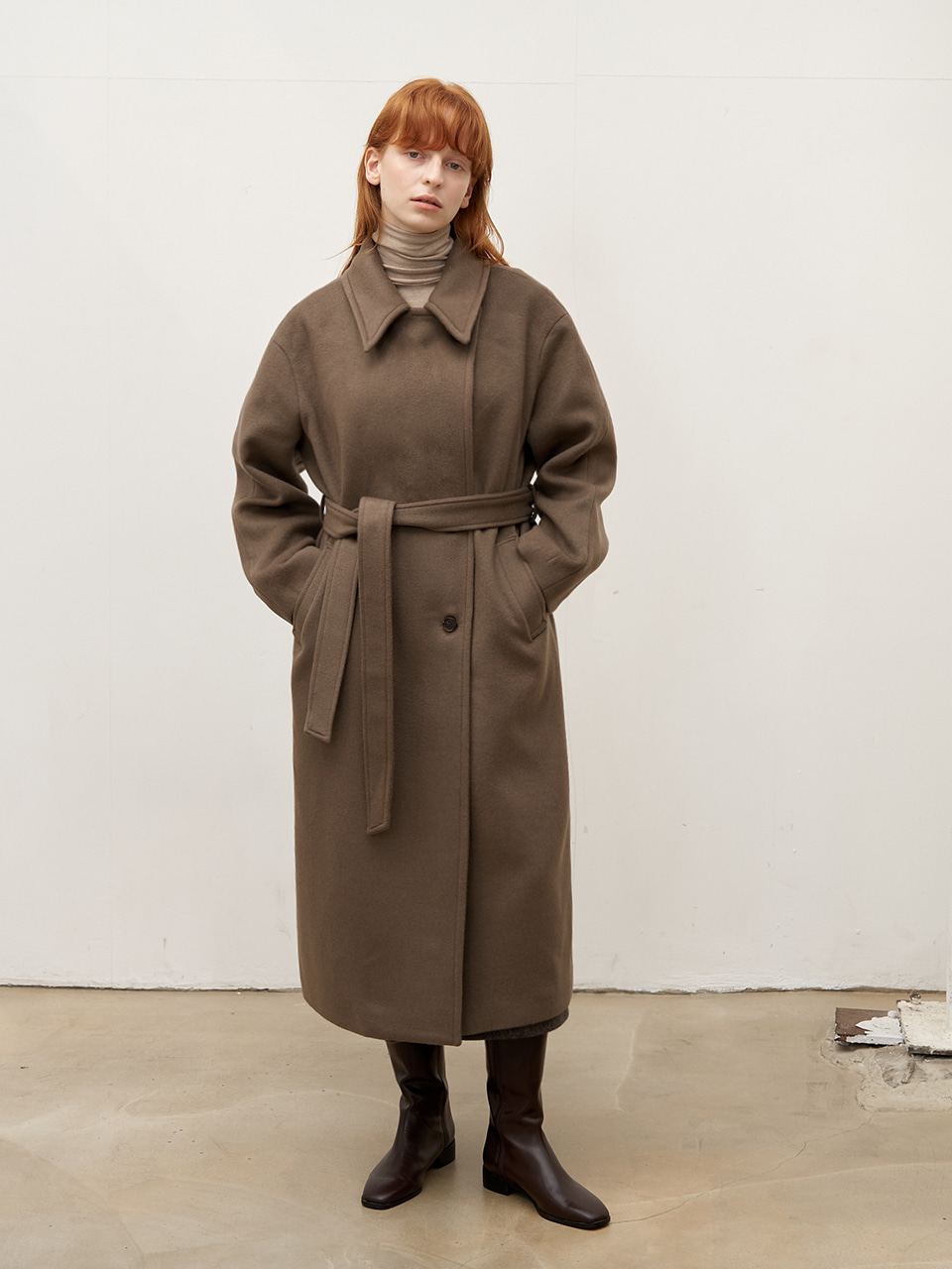 Double wool coat - Mocha
