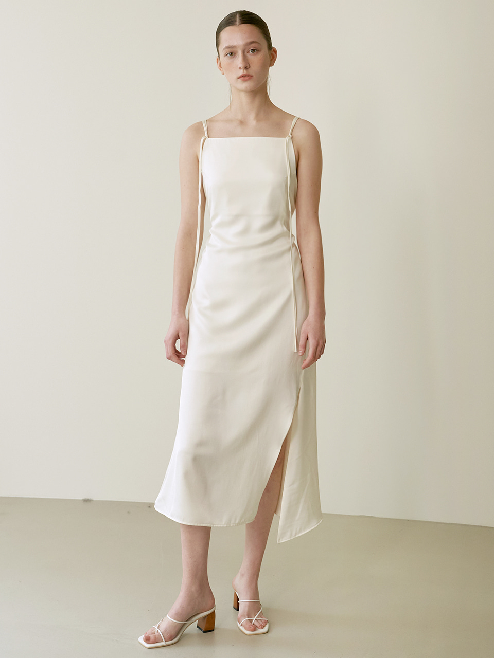 String slip dress - Ivory