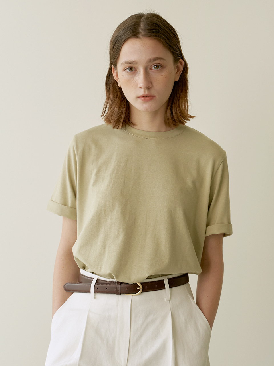 Daily slit T-shirt - Mint